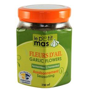 Fleur d'ail fermentée dans l'huile - Petit Mas 190ml