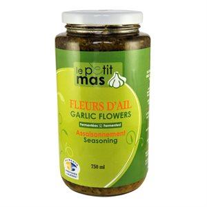 Fleur d'ail fermentée dans l'huile - Petit Mas 750ml