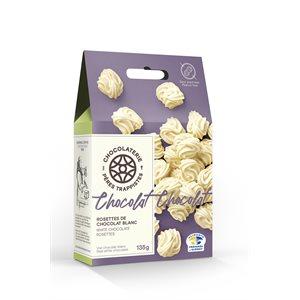 Rosettes de chocolat blanc - Chocolaterie des Pères Trappistes 135g