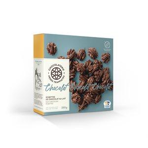 Rosettes de chocolat au lait - Chocolaterie des Pères Trappistes 250g