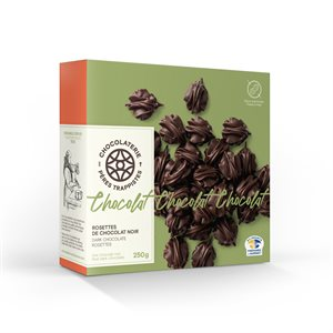 Chocolaterie des Pères Trappistes - Dark Chocolate Rosettes 250g