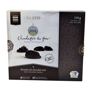 Rosettes de chocolat noir - Chocolaterie des Pères Trappistes 250g