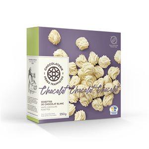 Chocolaterie des Pères Trappistes - White Chocolate Rosettes 250g