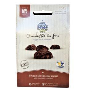 Rosettes de chocolat au lait - Chocolaterie des Pères Trappistes 135g