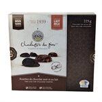 Rosettes de chocolat noir & au lait - Chocolaterie des Pères Trappistes 225g