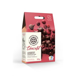 Chocolaterie des Pères Trappistes - Cranberries Covered Dark Chocolate 120g