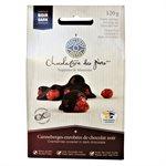 Canneberges enrobées de chocolat noir - Chocolaterie des Pères Trappistes 120g