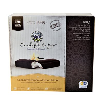 Chocolaterie des Pères Trappistes - Marshmallows Covered Dark Chocolate 180g