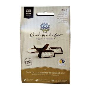 Noix de coco enrobées de chocolat noir - Chocolaterie des Pères Trappistes 160g
