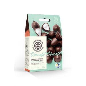Fondants vanille enrobés de chocolat noir - Chocolaterie des Pères Trappistes 180g