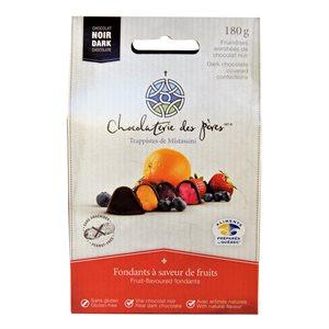 Fondants aux fruits enrobés de chocolat noir - Chocolaterie des Pères Trappistes 180g