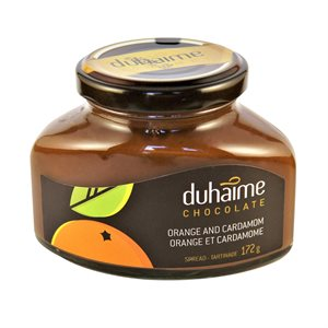 Tartinade chocolat, orange & cardamone - Duhaime Gourmet 172g