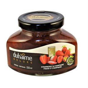 Tartinade Deluxe fraises & Champagne - Duhaime Gourmet 150ml