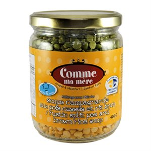 Comme Ma Mère - Rustic Split Pea & Brown Rice Soup 400g